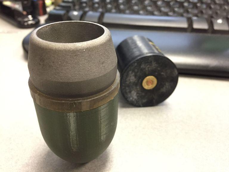 Obrázek: R.A.M.B.O. - Granátomet vyrobený na 3D tiskárně střílí pravé granáty