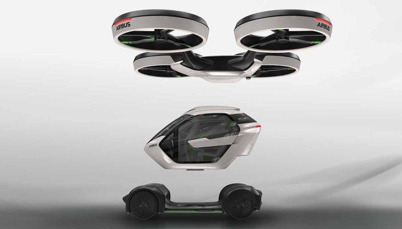 Obrázek: Dopravní prostředek budoucnosti od Airbusu je zároveň autem i dronem