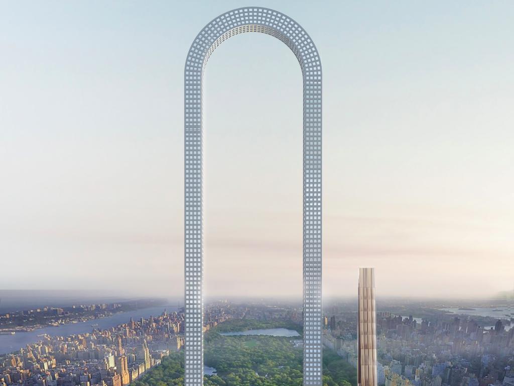 """Obrázek: Mrakodrap ve tvaru """"U"""" v New Yorku by byl nejdelší na světě, ale ne nejvyšší"""