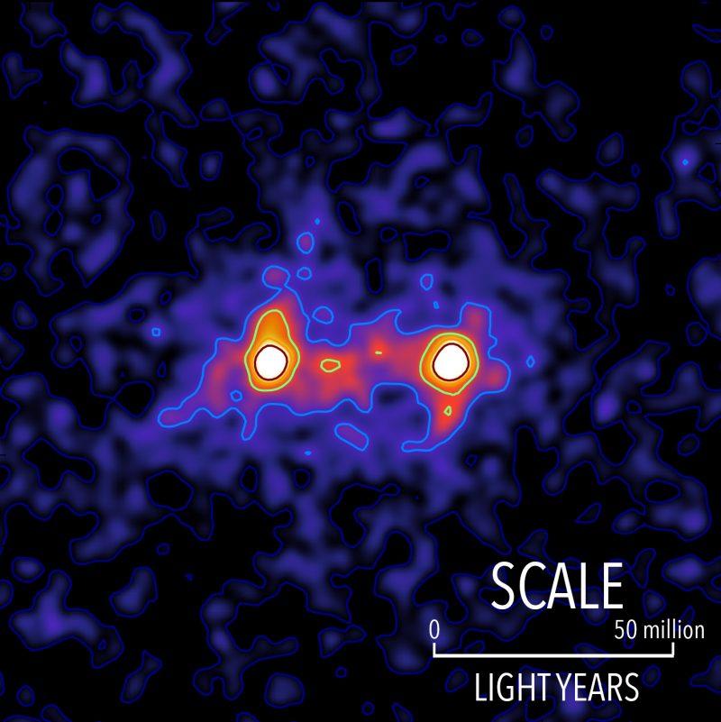 Obrázek: Vědci zveřejnili první fotografii temné hmoty