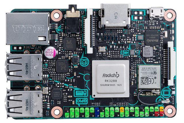 Obrázek: Asus Tinker Board - levný počítač od kapsy s dvojnásobným výkonem Raspberry Pi