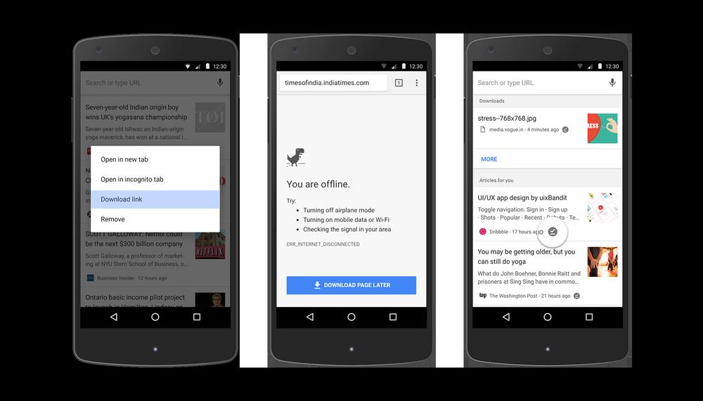 Obrázek: Prohlížejte na Androidu stránky i bez internetu a další novinky v prohlížeči Chrome