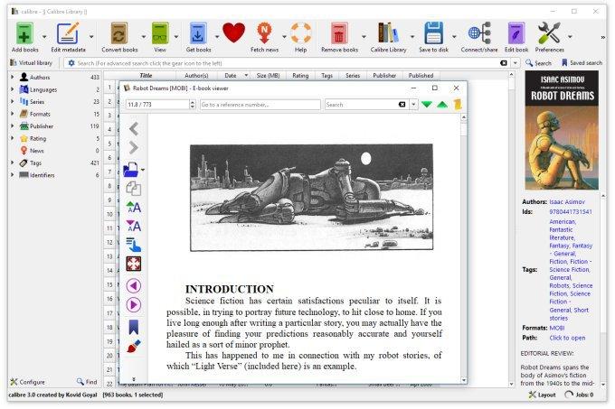 Obrázek: Calibre 3.0 - nejlepší správce digitální knihovny vám v nové verzi umožní číst e-booky na dálku