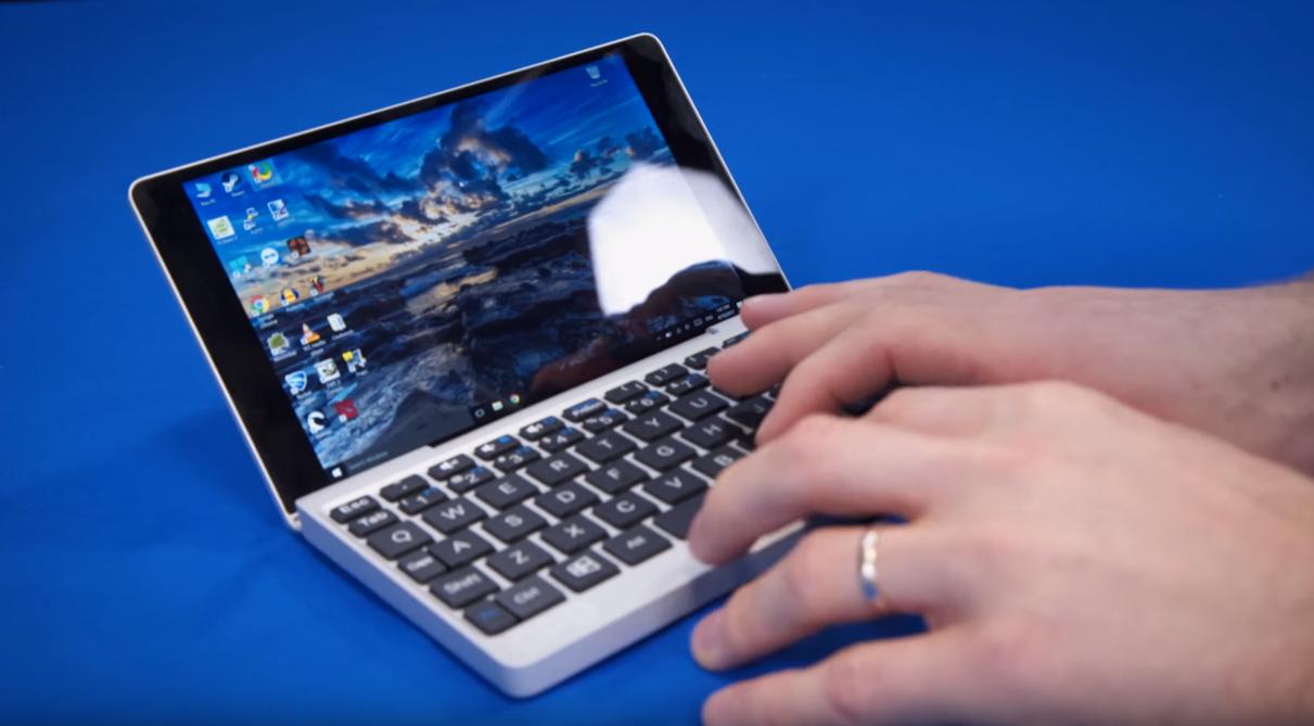 Obrázek: Extrémně malý notebook do kapsy je jen o trochu větší, než mobilní telefon