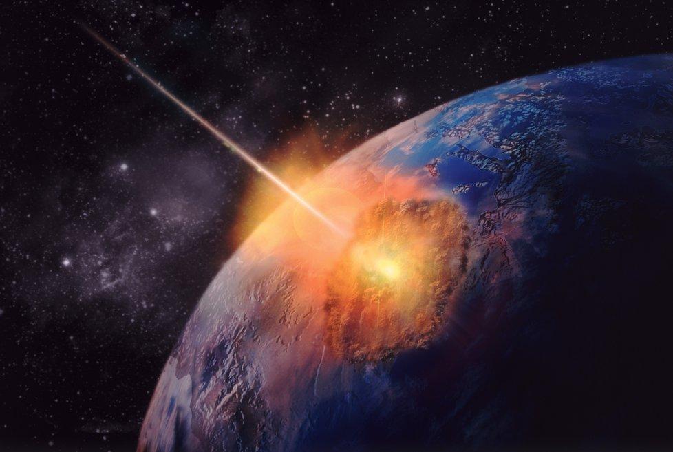 Obrázek: Asteroid, který vyhladil dinosaury: Pod jakým úhlem dopadl pomohl spočítat superpočítač