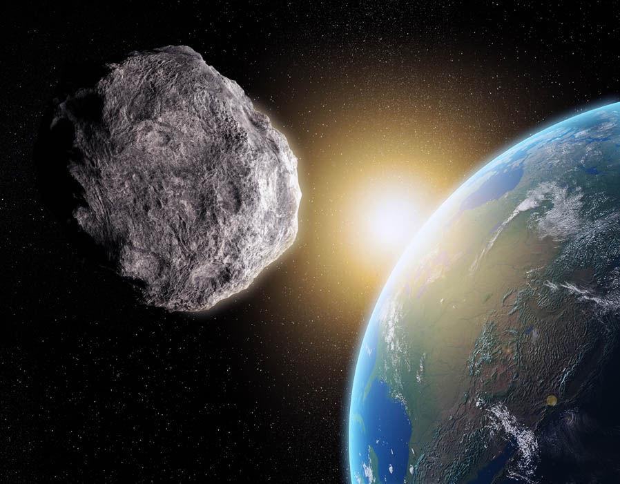 Obrázek: Asteroid mířící na Zemi snadno odstřelit nemůžeme, opět by se spojil