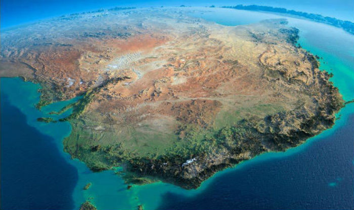 Obrázek: Z Ameriky do Austrálie bosou nohou? V minulosti se jednalo o jeden kontinent