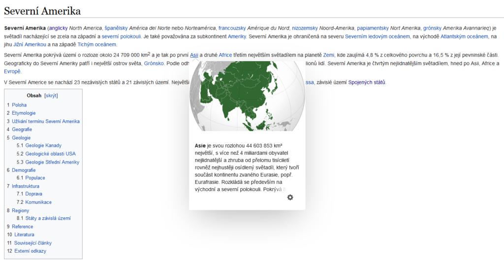 Obrázek: Wikipedie přidala náhledy stránek, uživatelům usnadní čtení