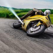 Obrázek: Konec smrtelných pádů na motorce? Stlačený plyn zabrání uklouznutí a přitlačí motocykl k vozovce