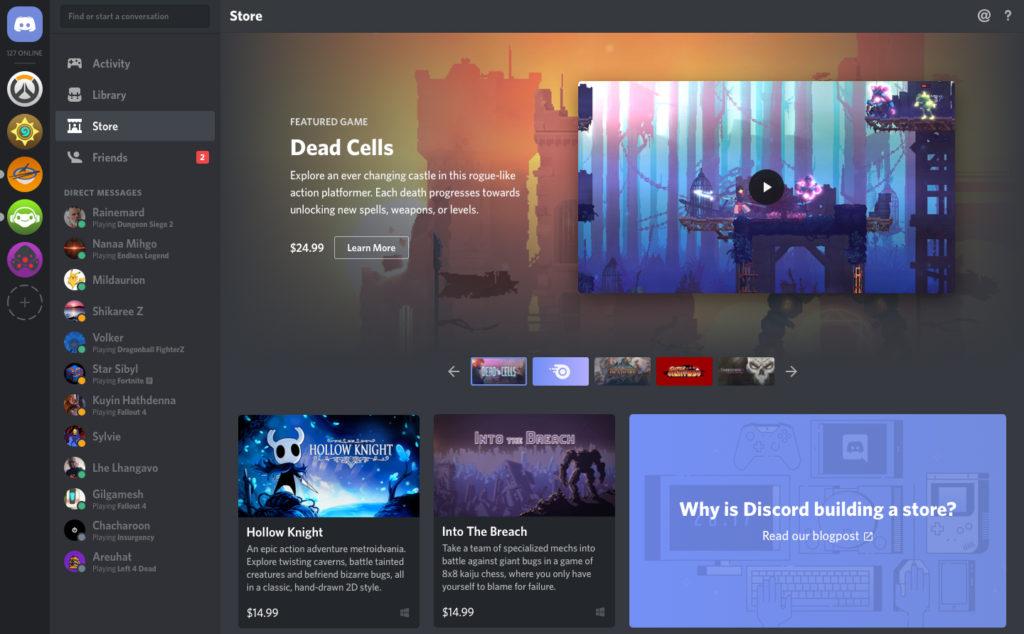 Obrázek: Discord rozšiřuje portfolio služeb. K sociální interakci a komunikaci přidá prodej videoher