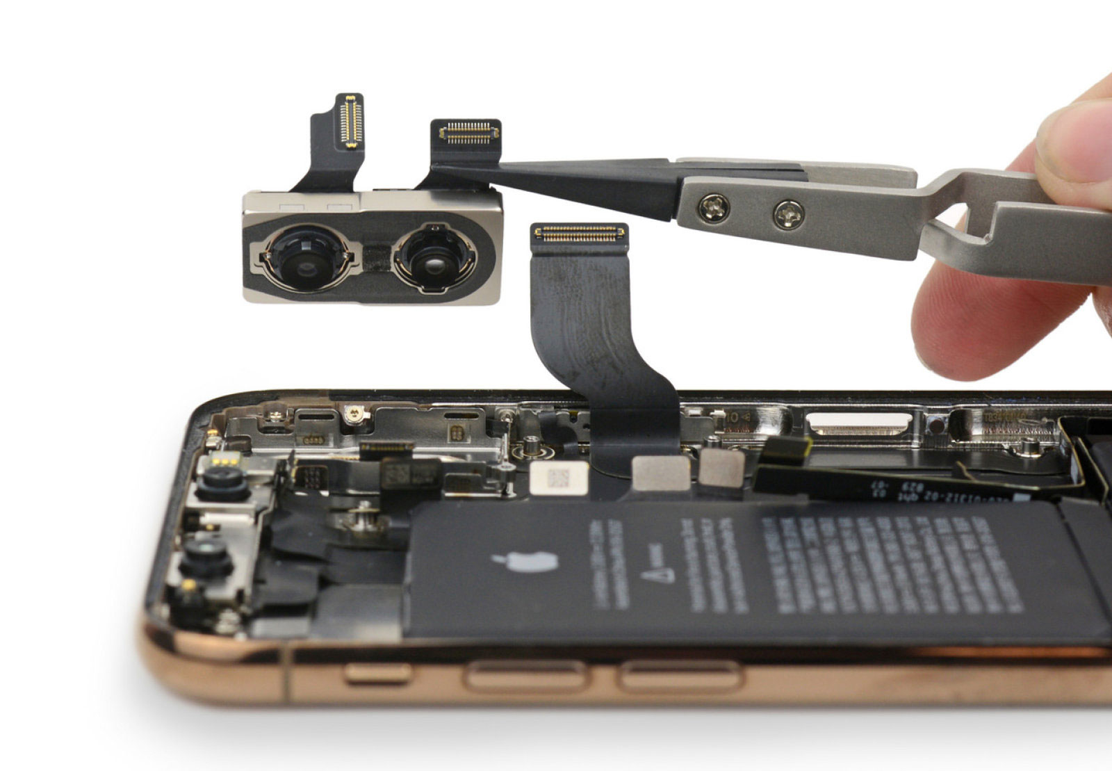 Obrázek: Jak vypadají nové iPhony uvnitř? Po rozebrání na šroubky překvapila malá baterie a podoba s iPhone X