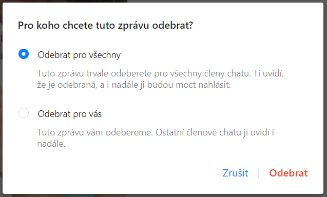 Obrázek: Vraťte zpět odeslaný text: Jak smazat zprávy z Facebook Messengeru? Neuvidí je ani příjemce