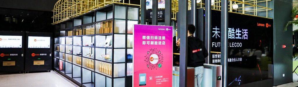 Obrázek: Místo karty naskenujete oko: Lenovo otevřelo prodejnu, kde nepotřebujete peněženku