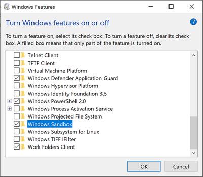 Obrázek: Nová funkce Windows 10: Sandbox ochrání PC před nebezpečnými aplikacemi a zamete stopy po používání