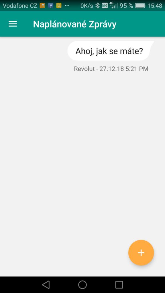 Obrázek: Jak naplánovat odeslání SMS a odložit odeslání zprávy na později?
