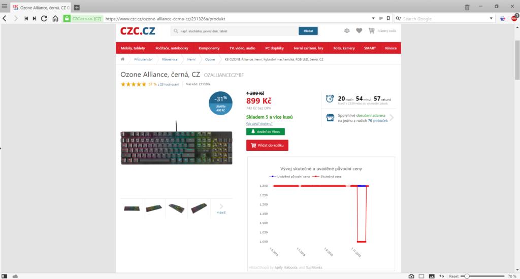 Obrázek: Méně podvodů na Black Friday: zkontrolujte si původní cenu v prohlížeči, rychle a jednoduše