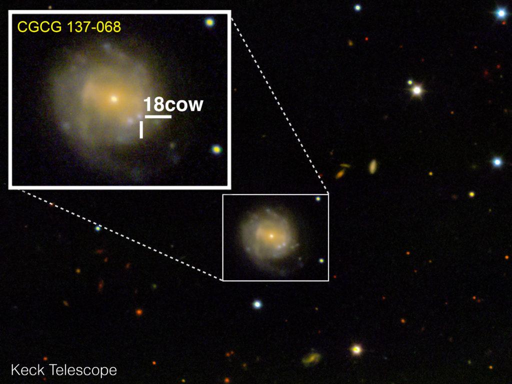 Obrázek: Astronomové mohou poprvé v historii sledovat vznik černé díry – nebo neutronové hvězdy. Nejsou si jistí