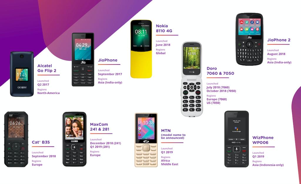 Obrázek: Tlačítkové telefony jsou chytřejší. Díky KaiOS umí Facebook, WhatsApp a Google mapy