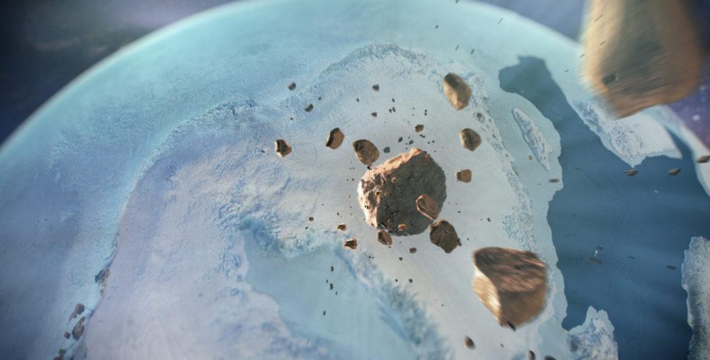 Obrázek: Kilometrový asteroid skončil pod grónským ledem, nyní vědci objevili druhý kráter