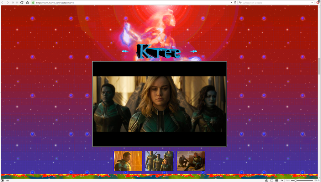 Obrázek: Návrat do minulosti: Webové stránky filmu Captain Marvel jsou stejně šílené, jako byl internet v 90. letech