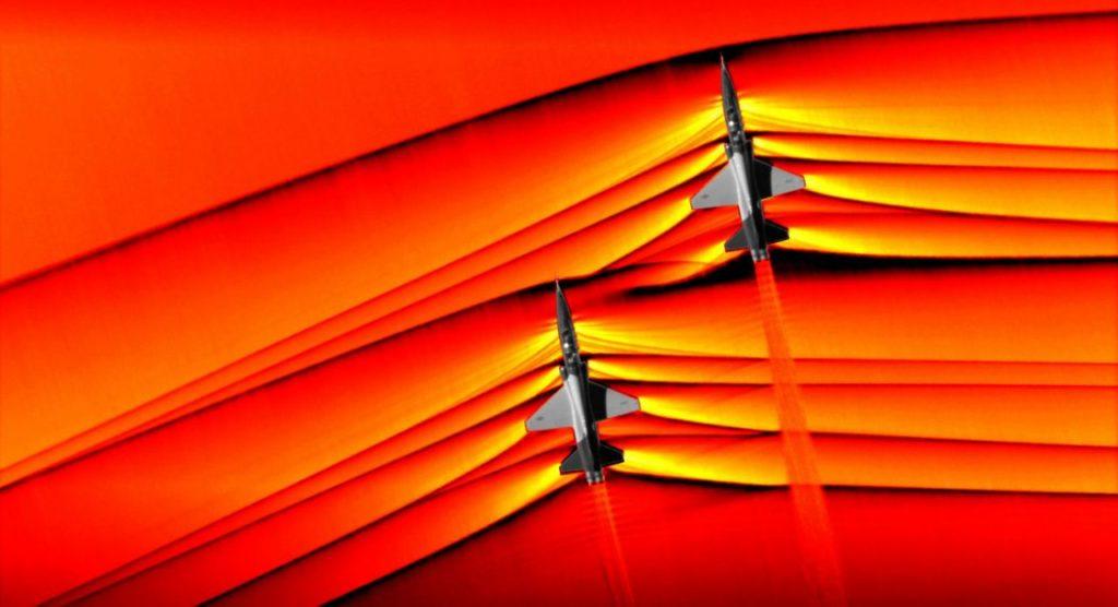 Obrázek: NASA poprvé v historii vyfotila sonický třesk dvojice nadzvukových stíhaček