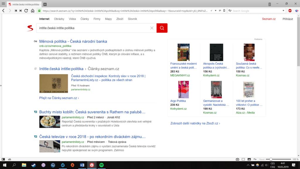 Obrázek: Chytřejší vyhledávání jednoduše a přehledně na Seznamu aneb opravdu najděme, co hledáme