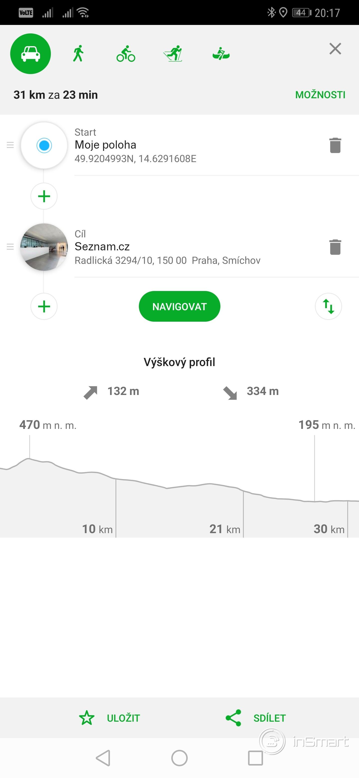 Obrázek: Mapy.cz navigují i v pustině. Jak pracovat s navigací a najít trasu offline?