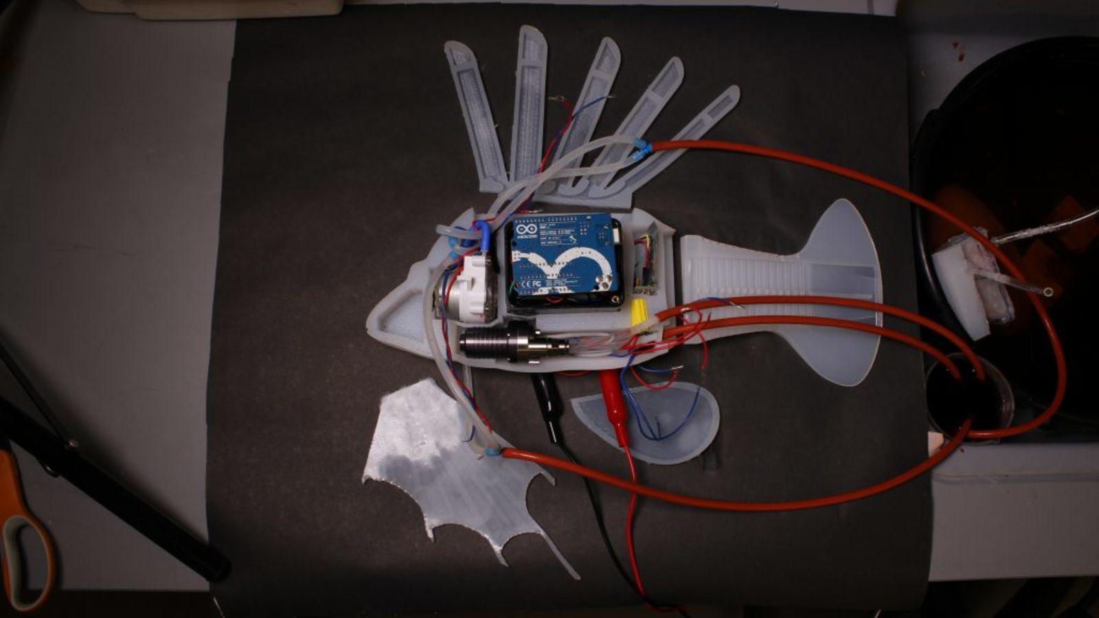 Obrázek: Robotická ryba sumělou krví působí jako živá