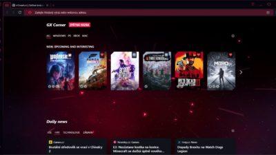 Obrázek: Opera GX: Vyzkoušejte první internetový prohlížeč určený pro hráče