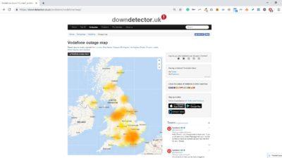 Obrázek: Nefunguje vám internet? Vodafone má výpadek, přístup k internetu nefungoval v ČR a dalších zemích
