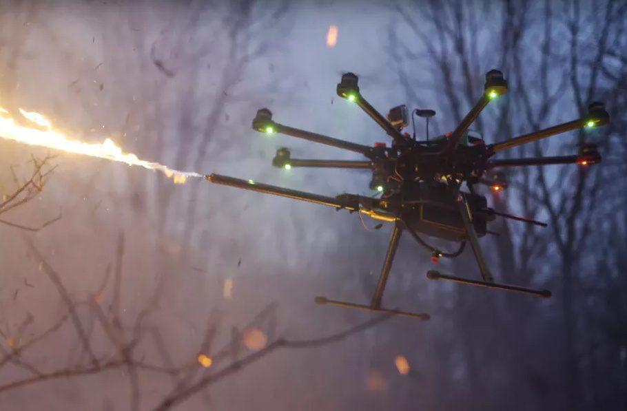 Obrázek: Americká firma prodává plamenomet na drony, koupit ho půjde už zítra