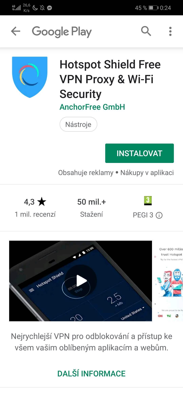 Další aplikace pro připojení