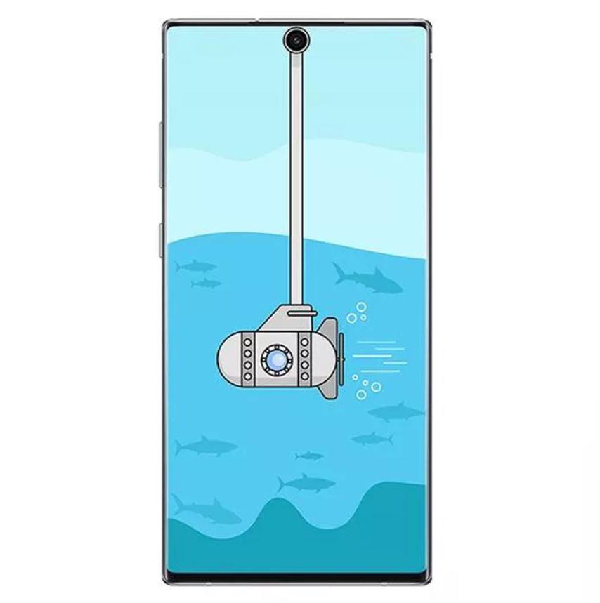 Obrázek: Lidé si opět hrají výřezem displeje u Galaxy Note 10, vytváří vtipné tapety