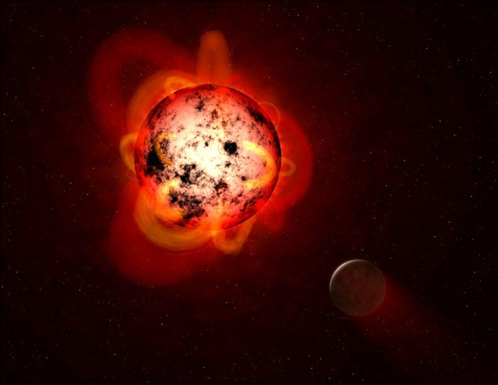 Obrázek: Astronomové popsali první exoplanetu obíhající kolem červeného trpaslíka. Žít by se na ní nedalo