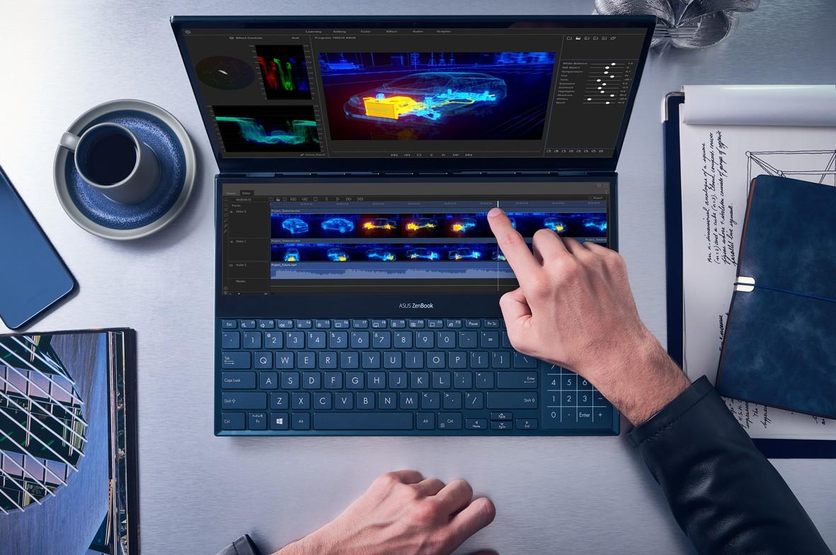 Obrázek: ZenBook Pro Duo: Unikátní notebook má dva 4K displeje a skvělý výkon