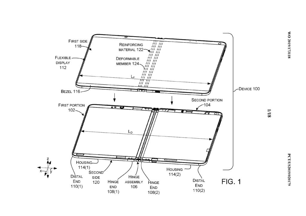 Obrázek: Nový patent Microsoftu slibuje funkční a odolný ohýbatelný displej