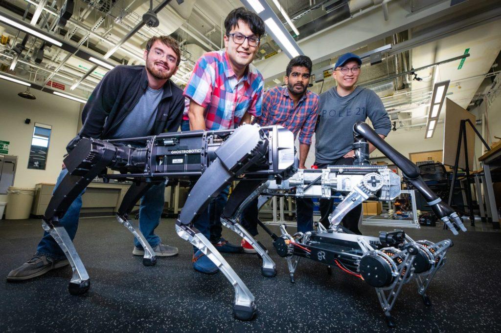 Obrázek: Robotická zvířata se inspirují u reálných šelem, vědci zlepšují pohyb a stabilitu