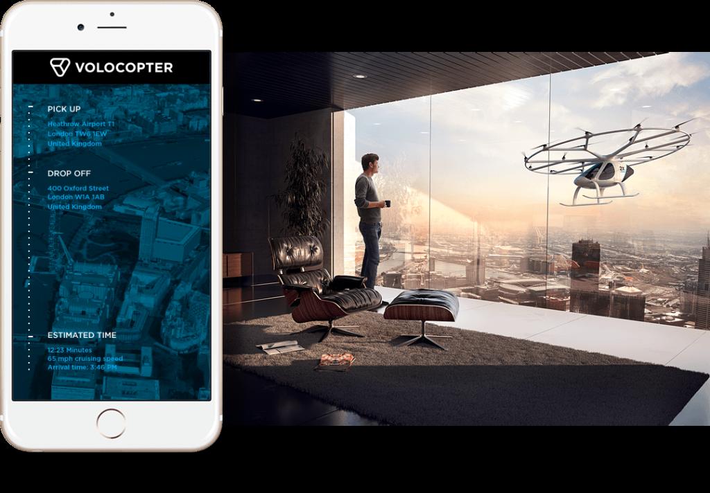 Obrázek: Německý startup Volocopter startuje leteckou taxi službu, chce předběhnout Uber