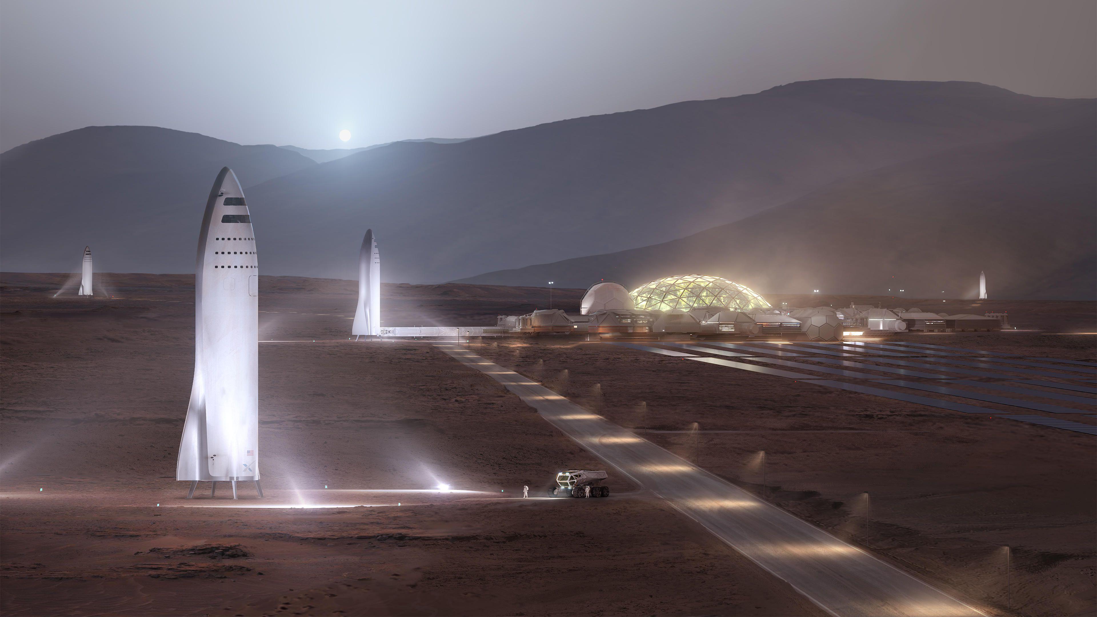 Obrázek: Kde přistát na Marsu? SpaceX to srudou planetou myslí vážně