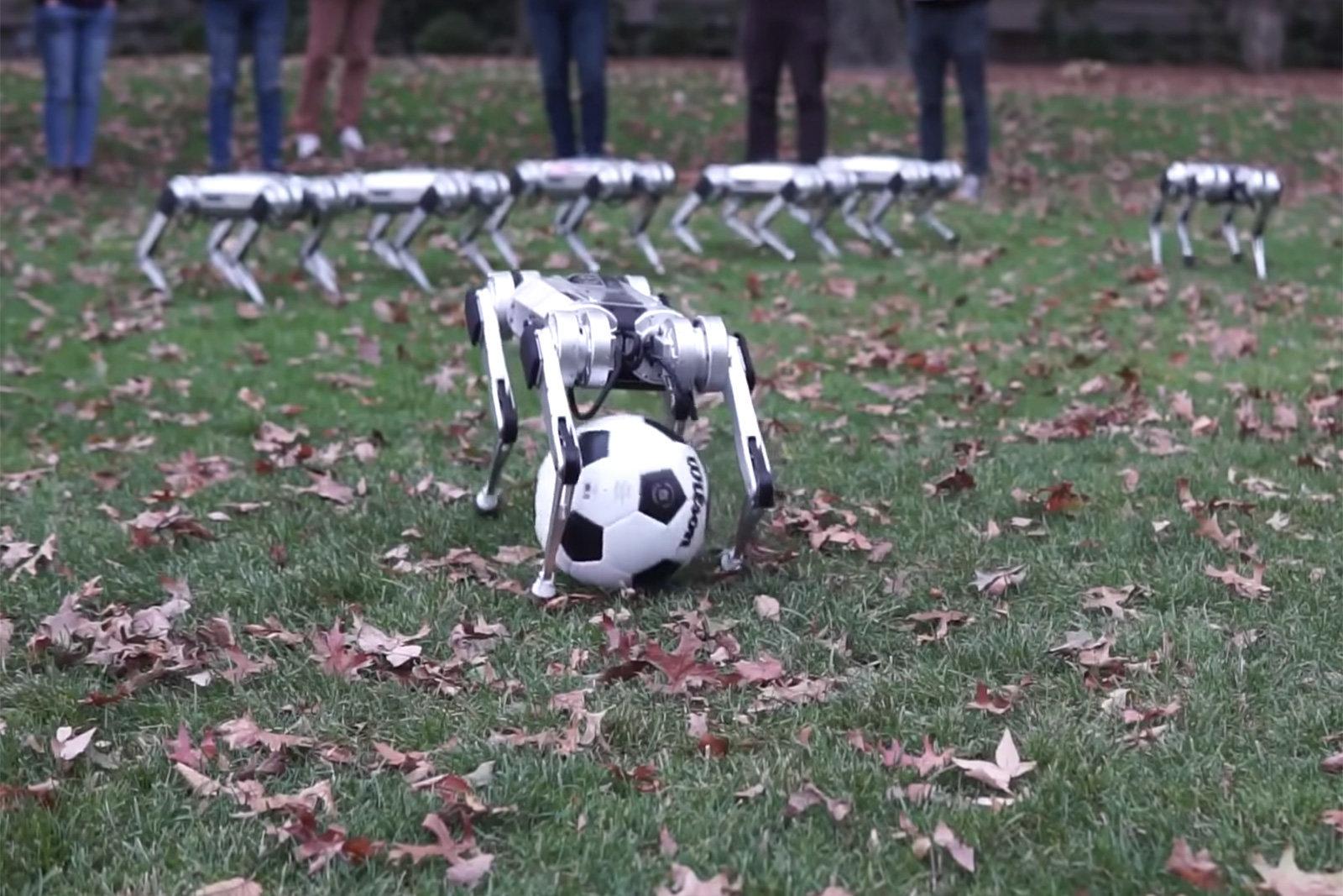 Obrázek: Roboti od MIT umí tancovat, hrát fotbal a… narážet do sebe? Vývoj robůtků Mini Cheetah pokračuje.