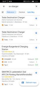 Obrázek: Kde nabít elektromobil? Google Maps nově umí vyhledat vhodné nabíjecí stanice v okolí