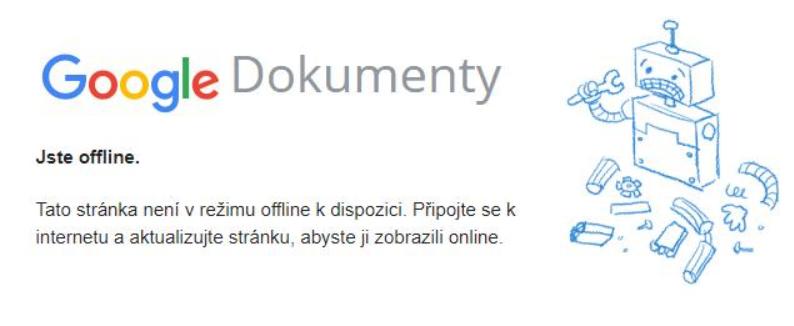 Obrázek: Hlásí vám Google Dokumenty, že jste offline? Máme pro vás řešení