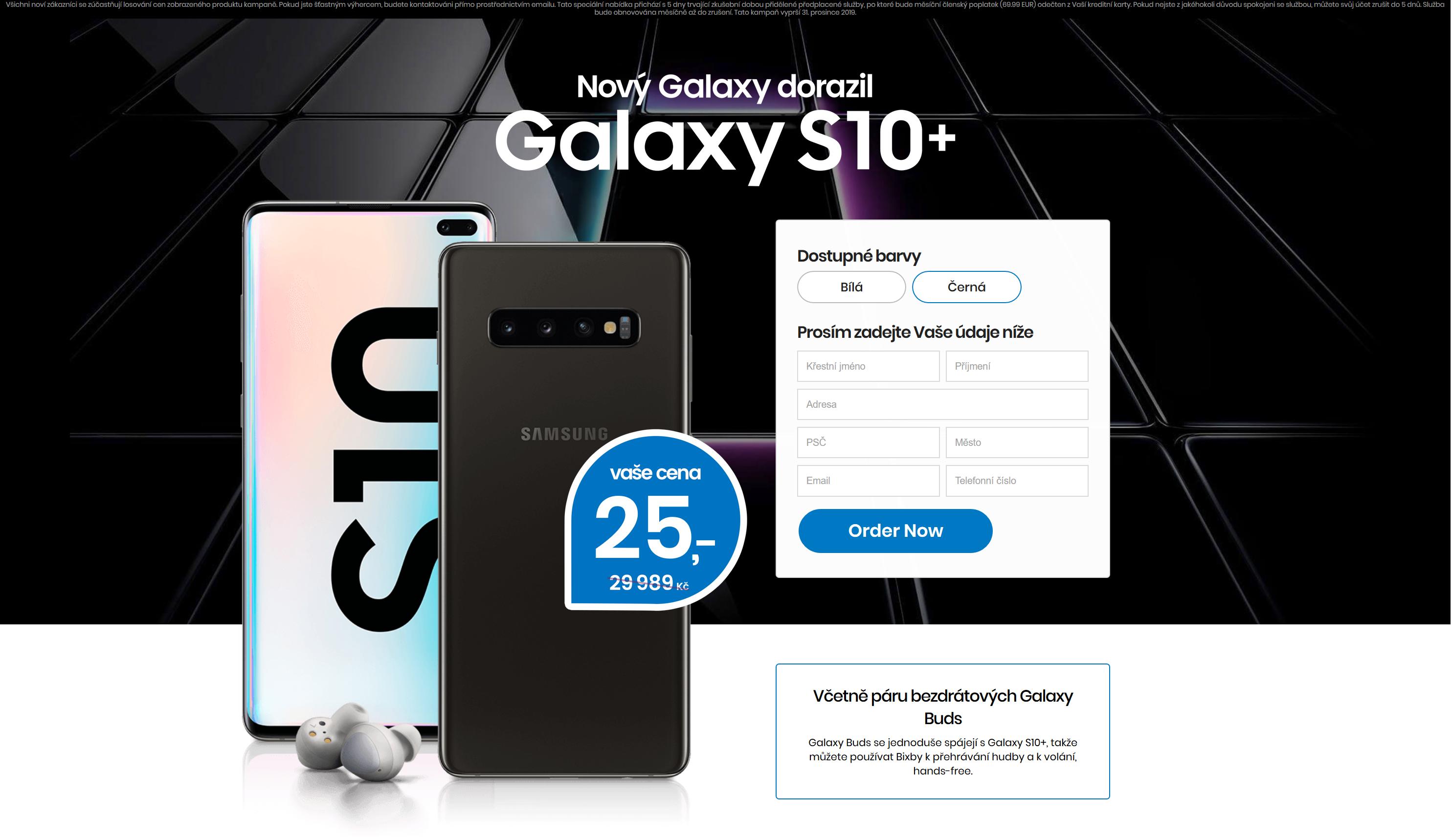 Obrázek: Chcete skvělý telefon za 25 Kč? Pozor na falešné stránky Samsungu, nic nedostanete