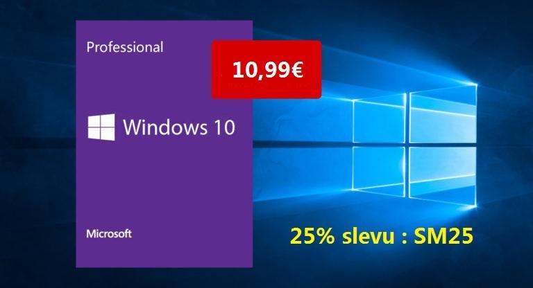 Obrázek: Získejte originální licenci Windows 10 Pro za 280 Kč