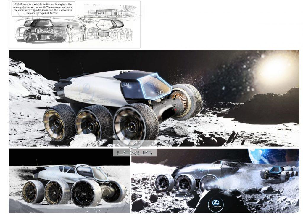 Obrázek: Průzkum vesmíru jako ze sci-fi: Lexus ukázal svoji představu o kosmických vozítkách budoucnosti