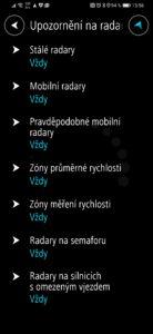 Obrázek: Jak v navigaci Mapy.cz zobrazit upozornění na radary a kamery?