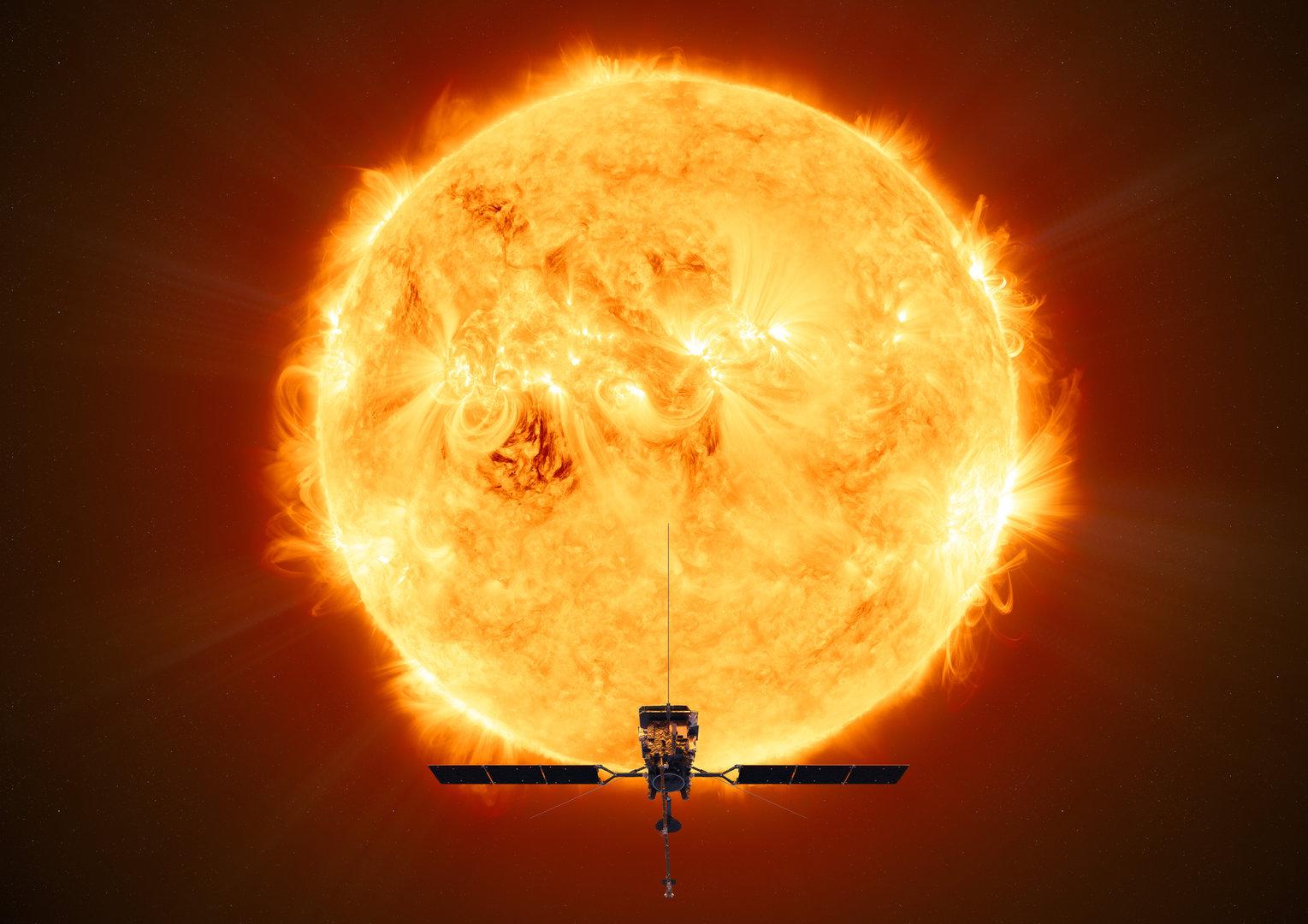 Obrázek: Jak vypadají póly Slunce? Vědcům to prozradí sonda Solar Orbiter, dnes odstartovala