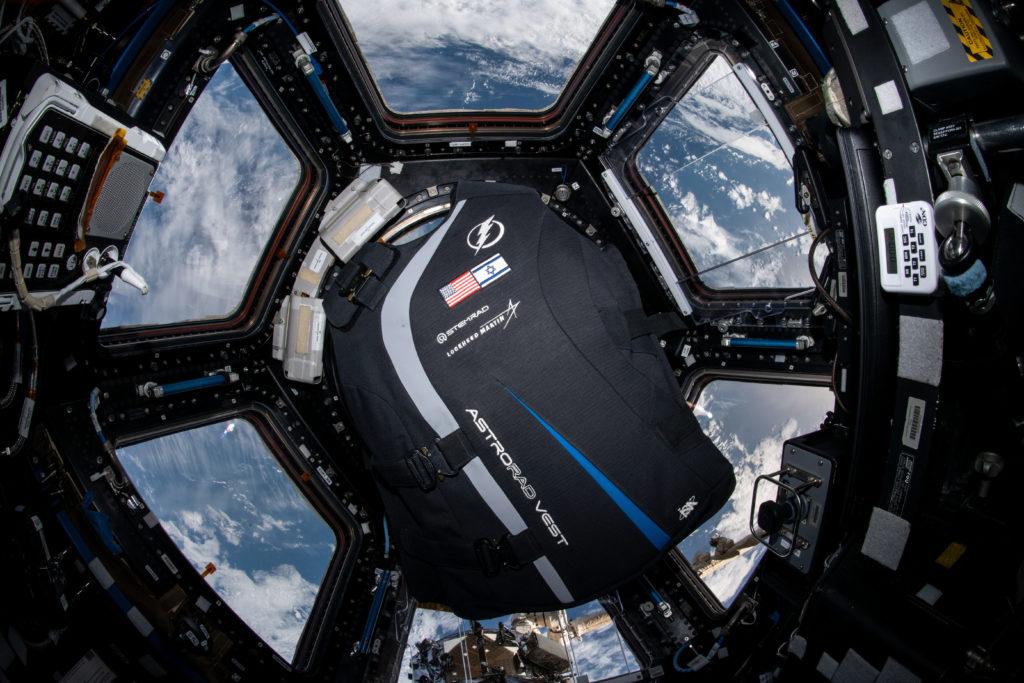 Izraelská protiradiační vesta AstroRad ve vesmíru