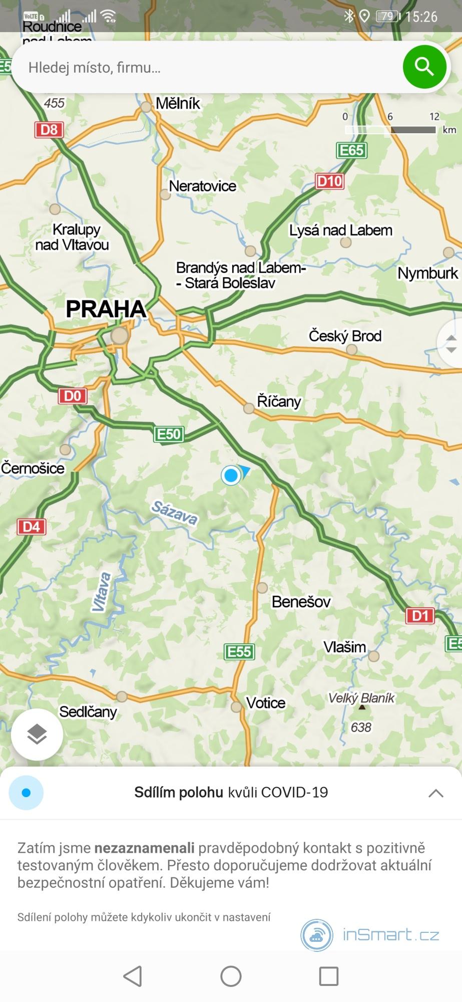 Obrázek: Mapy.cz upozorní, jestli jste přišli do styku s nakaženým koronavirem