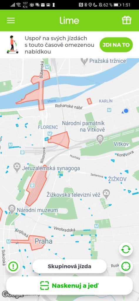 Obrázek: Zdraví lidé = zdravá města. Elektrické koloběžky Lime opustily kvůli pandemii ulice Prahy